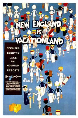 New England Vacationland Art Print by David Wagner