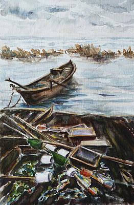New England Wharf Original by Xueling Zou