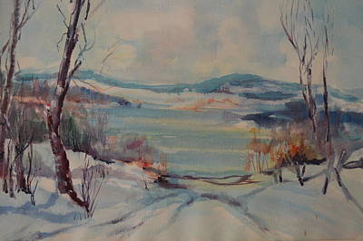 New England Winter Art Print by Dorothy Campbell Therrien