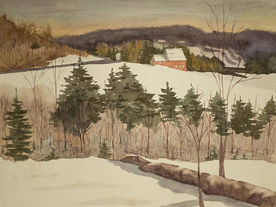 Painting - New England Winter by Peggy Poppe