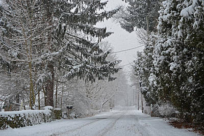 Photograph - New England Winter Street by Toby McGuire