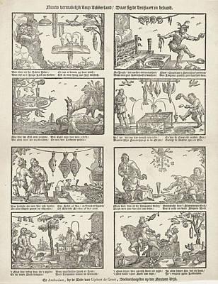 New Entertaining Cockaigne, Gijsbert De Groot Art Print by Gijsbert De Groot And Anonymous