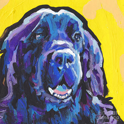 Newfoundland Dog Painting - New Found Love by Lea S