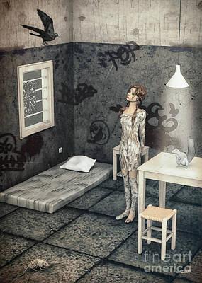 New Friend Art Print by Jutta Maria Pusl
