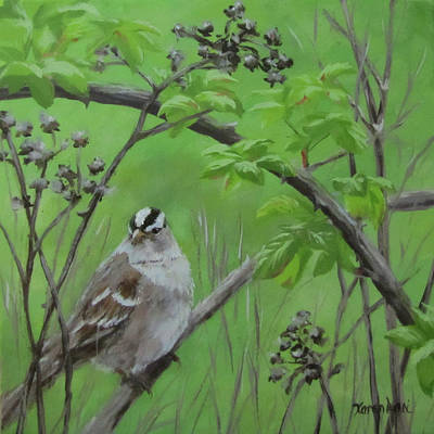 Painting - New Friend by Karen Ilari