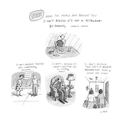 Cardboard Drawing - New From The People Who Brought by Roz Chast