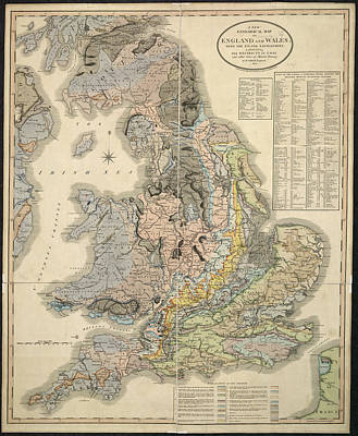 Cartography Photograph - New Geological Map by British Library
