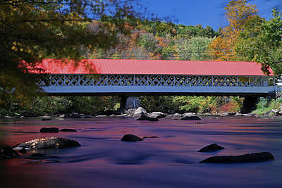 New Hampshire Ashuelot Covered Bridge Art Print by Juergen Roth