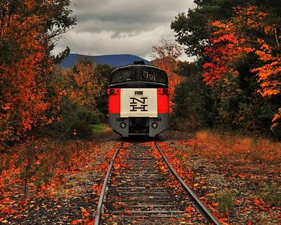 New Hampshire Autumn Photograph - New Hampshire Autumn Train by Benjamin Yeager