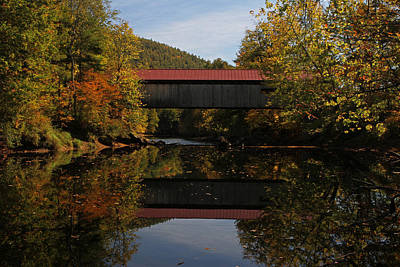New Hampshire Coombs Covered Bridge Art Print by Juergen Roth