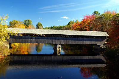 Photograph - New Hampshire Covered Bridge 1 by Robert Lozen