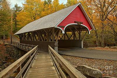 Photograph - New Hampshire Covered Bridge by Adam Jewell