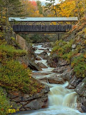 Photograph - New Hampshire Covered Bridge Over Liberty Gorge by Adam Jewell
