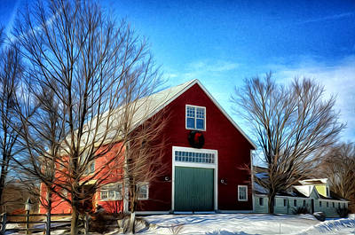 New Hampshire Farm Art Print by Tricia Marchlik