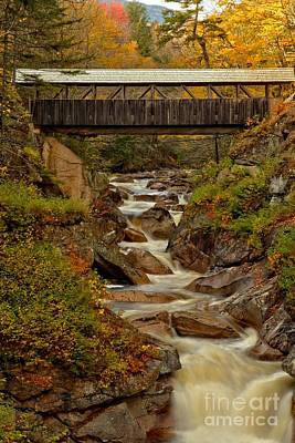 Photograph - New Hampshire Franconia Notch Bridge by Adam Jewell