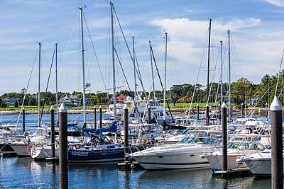 New Hampshire Marina Art Print