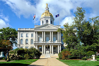 Concord Center Photograph - New Hampshire State Capitol by Olivier Le Queinec