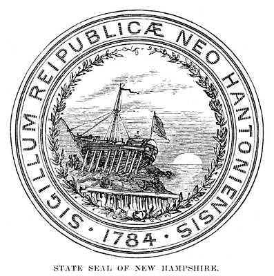 Shipyard Painting - New Hampshire State Seal by Granger