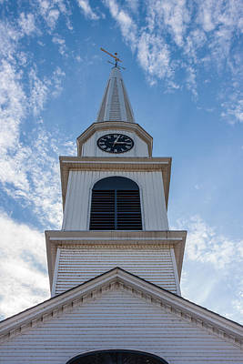 Photograph - New Hampshire Steeple Detailed View by Karen Stephenson