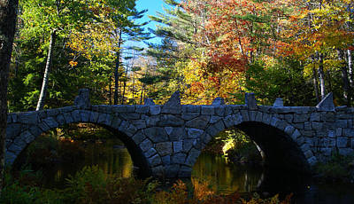Photograph - New Hampshire Stone Bridge 1 by Robert Lozen
