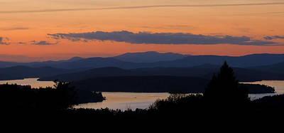 New Hampshire Sunset Art Print by Mim White