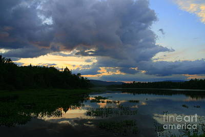 Photograph - New Hampshire Sunset Reflections  by Neal Eslinger