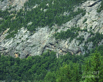 Photograph - New Hampshire Mountain Stone Cliffs by Lizi Beard-Ward