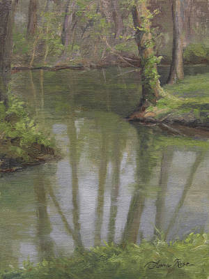 Indiana Landscapes Painting - New Harmony Spring by Anna Rose Bain