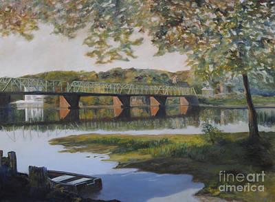 New Hope Bridge Print by Addie Hocynec