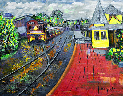 Painting - New Hope Pa Train Station by Michael Daniels