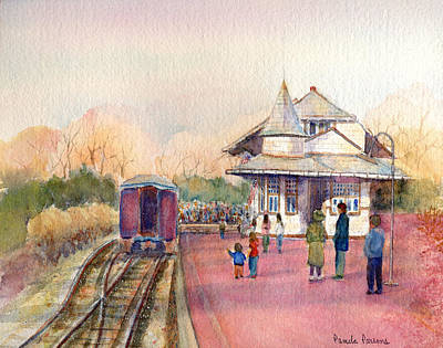 New Hope Station Art Print by Pamela Parsons