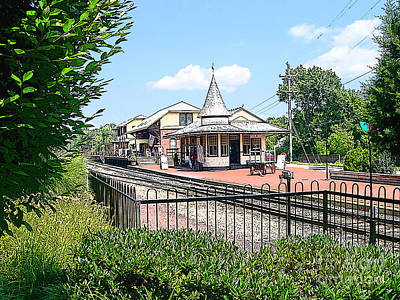 Solebury Photograph - New Hope Train Station by Addie Hocynec