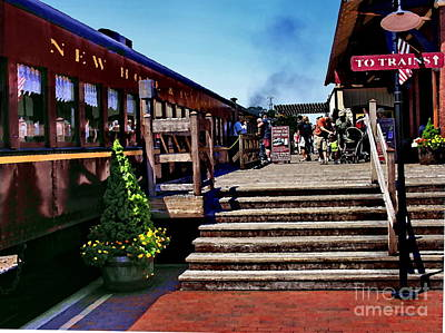 Photograph - New Hope Train Station by Jacqueline M Lewis
