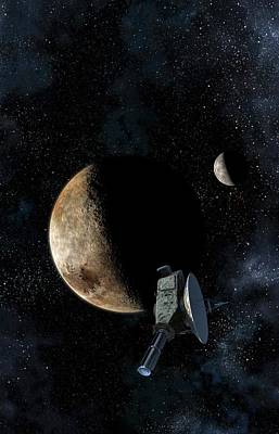 New Horizons At Closest Approach To Pluto Art Print by Take 27 Ltd