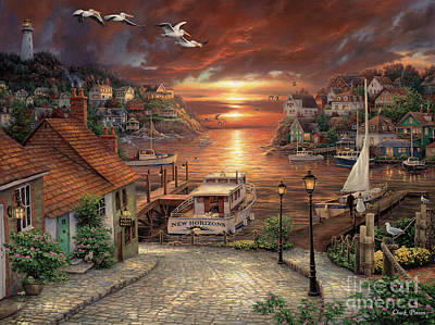 Harbor Painting - New Horizons by Chuck Pinson