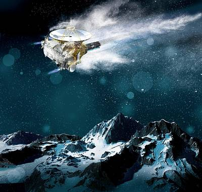 Snowy Mountain Photograph - New Horizons Spacecraft At Pluto by Claus Lunau