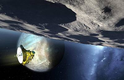 New Horizons Spacecraft At Pluto Art Print by Detlev Van Ravenswaay