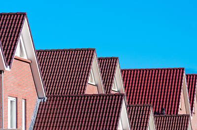 Brick Duplex Photograph - New Housing by Hans Engbers