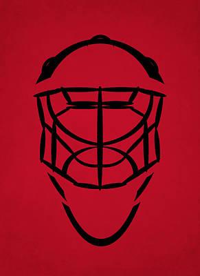 Jersey Devil Photograph - New Jersey Devils Goalie Mask by Joe Hamilton