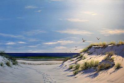 New Jersey Dune Walk Art Print by Ken Ahlering