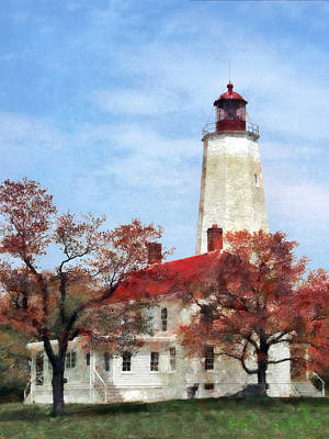 Photograph - New Jersey - Lighthouse At Sandy Hook by Susan Savad
