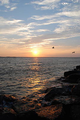 New Jersey Sunrise Print by Kathy Gibbons