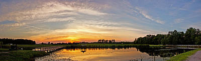 New Jersey Sunset Panoramic Art Print