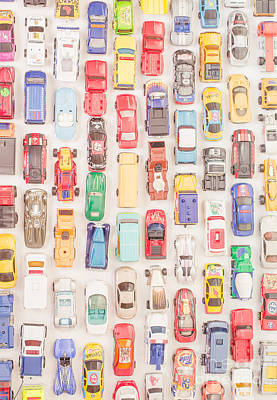 Traffic Photograph - New Jersey Traffic Jam by Edward Fielding