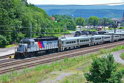 Landscape Photograph - New Jersey Transit 4109 by Steven Richman