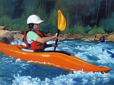 New Kayaker Original by Cireena Katto