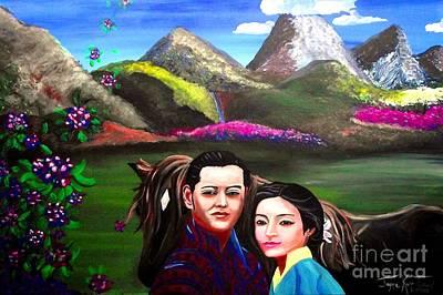 New King And Queen Of Bhutan Art Print