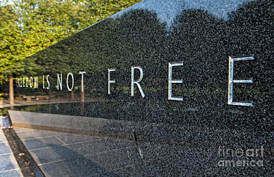 Korean War Memorial Photograph - New Korean War Veterans Memorial by Bill Bachmann