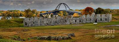 Photograph - New Lake Champlain Bridge Over Fort Crown Point by Adam Jewell