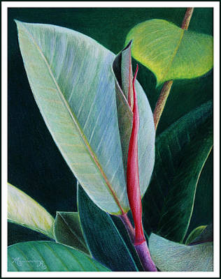 Painting - New Leaf Emerging. by Mariarosa Rockefeller